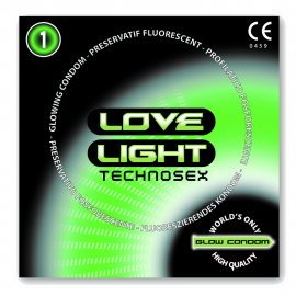 LOVE LIGHT GLOW CONDOM 1 PC PACK