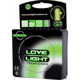 LOVE LIGHT GLOW CONDOM 3 PCS PACK
