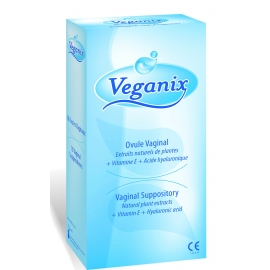 Veganix box of 10 vaginal suppositories